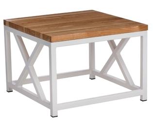 Stolik loft 45x45 - biały  czereśnia