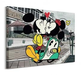 Myszka miki mickey shorts mickey and minnie - obraz na płótnie