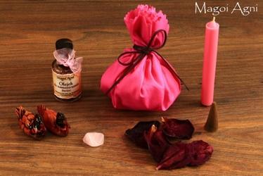 Rytuał miłosny sakiewka różowa - rytuał miłości, pomoże przyciągnąć i wzmocnić miłość