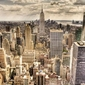 New york, sleepless sepia - fototapeta