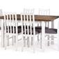Zestaw do jadalni Nika stół 120-150x80 cm 6 krzeseł dąb lefkasbiały