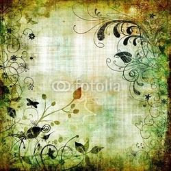 Obraz na płótnie canvas trzyczęściowy tryptyk wzór kwiatowy papieru