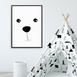 Mini smile - plakat dla dzieci , wymiary - 70cm x 100cm, kolor ramki - czarny