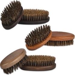 Kartacz do brody z twardym, wzmocnionym włosiem dzika, mały i poręczny venge - ciemny brąz