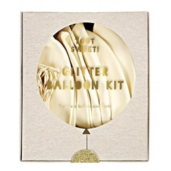 Meri meri - zestaw balonów z ozdobami biały