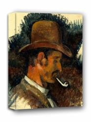Man with pipe, paul cézanne - obraz na płótnie