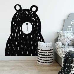 Naklejka na ścianę - bear boss , wymiary naklejki - szer. 80cm x wys. 100cm