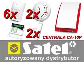 Alarm satel ca-10 lcd, 6xaqua plus, 2xfd-1, 2xtsd-1, syg. zew. sp-4003 - możliwość montażu - zadzwoń: 34 333 57 04 - 37 sklepów w całej polsce
