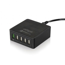 Gembird Ładowarka sieciowa QC 3.0 5 x USB czarna