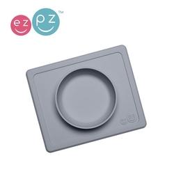 Ezpz silikonowa miseczka z podkładką 2w1 mini bowl szara