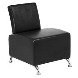 Gabbiano fotel do poczekalni 004 czarny