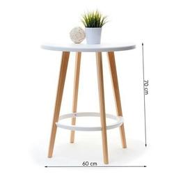 Stół capreso drewniany biały