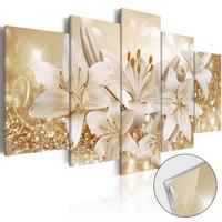 Obraz na szkle akrylowym - złoty bukiet glass