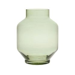 Hkliving szklany wazon zielony rozmiar l agl4446