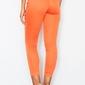 Pomarańczowe klasyczne spodnie cygaretki długości 78