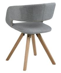 Nowoczesne krzesło na dębowych nogach grace cross light grey