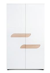 Dwudrzwiowa szafa ubraniowa z półkami avero