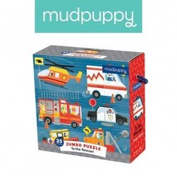 Mudpuppy puzzle podłogowe jumbo na ratunek 25 elementów 2+