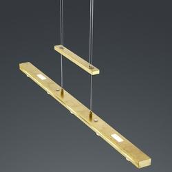 Regulowana lampa wisząca led do jadalni lacal złota