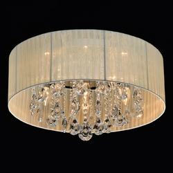 Lampa sufitowa jacqueline beżowa, kryształy mw-light elegance 465016406