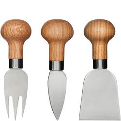 Sztućce do różnych serów z dębową rączką Sagaform Oak SF-5017198