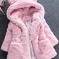 Jasno różowe futerko dziecięce z uszami 354