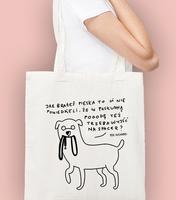 Jak brałeś pieska torba na zakupy naturalna universal
