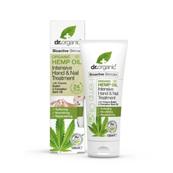 Dr. organic hemp oil intensive hand  nail treatment krem do rąk i paznokci z olejem z konopii 100 ml