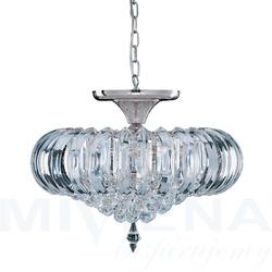 Sigma lampa wisząca 5 chrom akryl