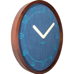 Zegar ścienny calmest nextime niebieski 3200