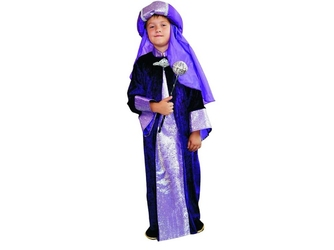 Kostium król fioletowy - s - 110120 cm