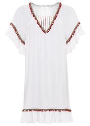 Sukienka z aplikacjami bonprix biel wełny