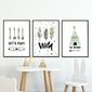 Zestaw plakatów dziecięcych - scandi fun , wymiary - 20cm x 30cm 3 sztuki, kolor ramki - biały