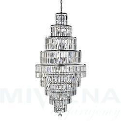 Empire lampa wisząca 13 chrom kryształ