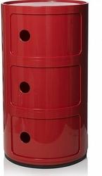 Szafka Componibili okrągła trzydrzwiowa czerwona