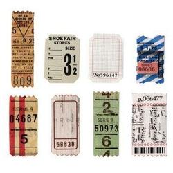 Ozdobne elementy Oldies - Bilety - 24 szt.
