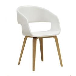 Krzesło Nuovo białe ekoskóra