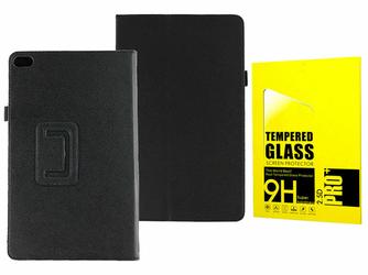 Etui stand case Huawei Media Pad T2 10 Pro Czarne +szkło - Czarny
