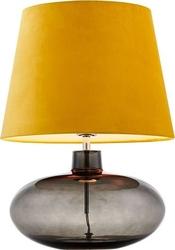 Lampa stołowa sawa velvet przydymiona podstawa żółty abażur