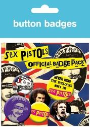 Sex Pistols Album - zestaw 6 przypinek