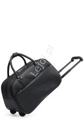 Torba podróżna z czarnej ekoskórki  bagaż podręczny