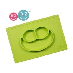 Zielony talerzyk z podkładką 2w1 happy mat