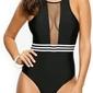 Monokini siateczka czarna strój kąpielowy