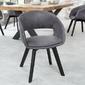 Krzesło tapicerowane wilbur nowoczesne szare