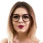 Okulary damskie zerówki kujonki burgundowe - 2