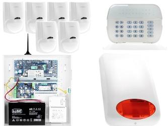 Za12544 zestaw alarmowy dsc 6x czujnik ruchu manipulator led powiadomienie gsm