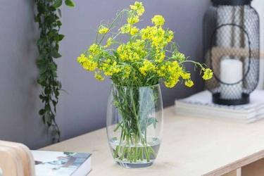 Wazon szklany na kwiaty altom design fuksja 20 cm
