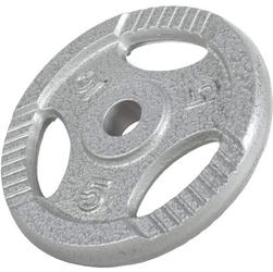 5 kg obciążenie żeliwne z uchwytami na sztangę 30 mm gorilla sports