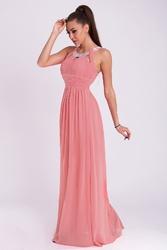 Evalola sukienka - pudrowy róż ciemny 19011-7