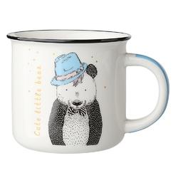 Kubek porcelanowy z rantem dla dzieci  na prezent altom design dekoracja niedźwiadek 330 ml
